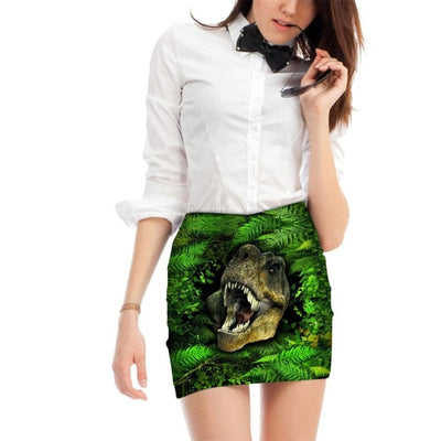 Wild Jungle Dinosaur Skirt