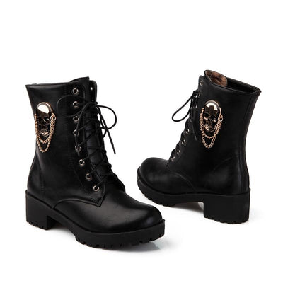 Winter Skull Boots for Ladies
