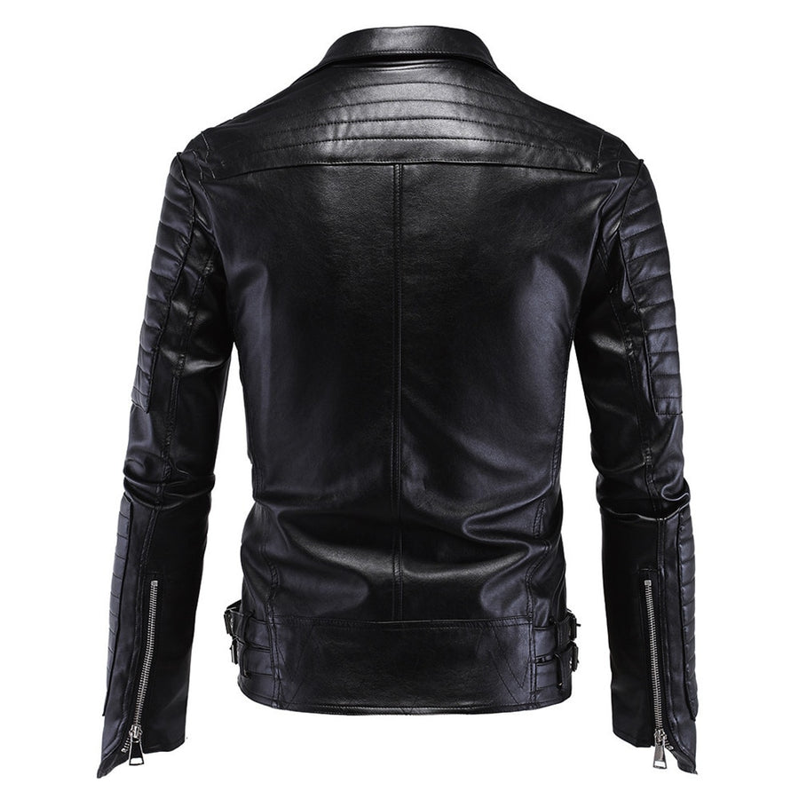 Men Skull PU Jacket