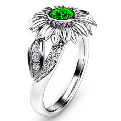 Sunflower Crystal Ring