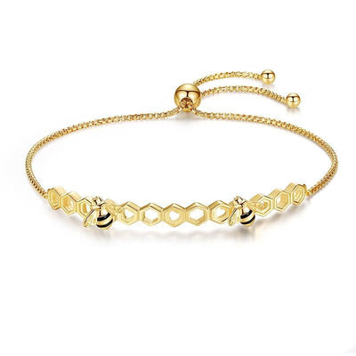 Honey Bee 925 Sterling Silver Bracelet