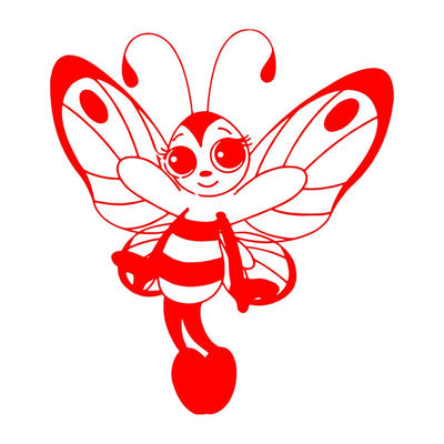 Waterproof Cute Butterfly Bee Girl Sticker