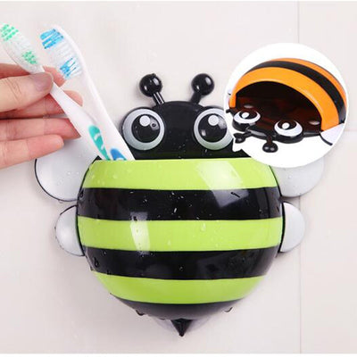 Cute Bee Wall Mounted Toothbrush Holder
