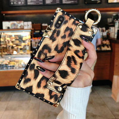 Luxury Leopard Print Leather Phone Case