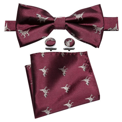New Arrival Silk Dinosaur Bow Tie