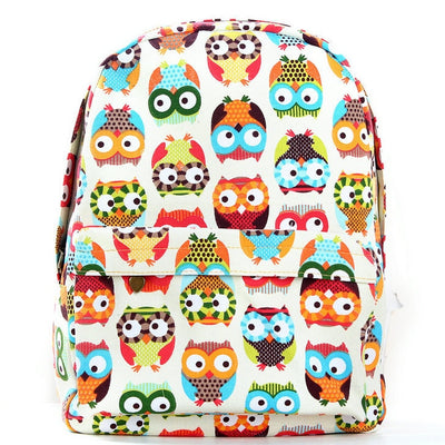 Graffiti Owl Canvas Backpack