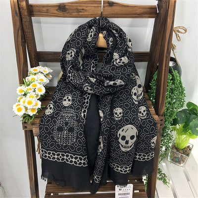 Diamond Skull Printed Scarf