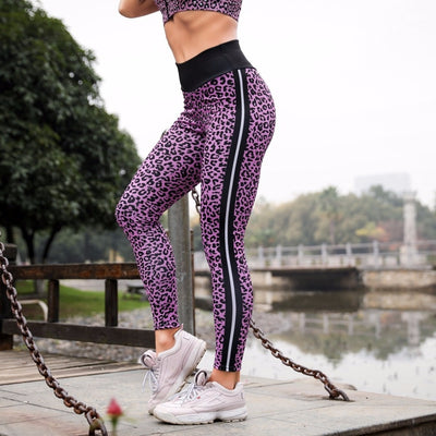 Leopard Print Push Up High Waist Leggings