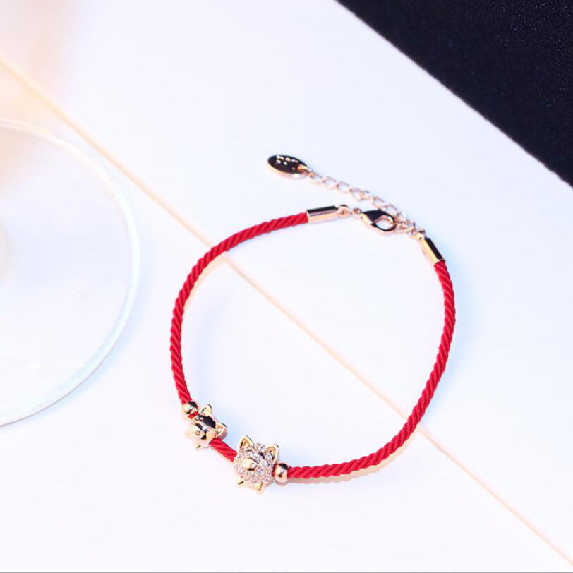 Adjustable Lucky Pig Braided Bracelets
