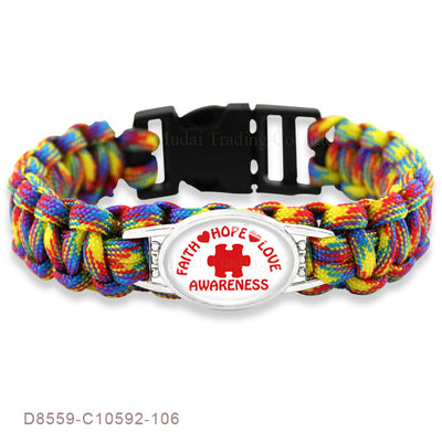 Puzzle Piece Autism Awareness Bracelets