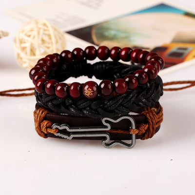 2019 New Hand Wrap Leather Guitar Bracelets