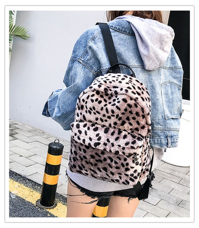 Leopard Printed School Backpack