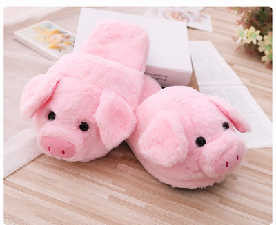 26/40cm Cute Pink Pig Plush Toys and Slippers