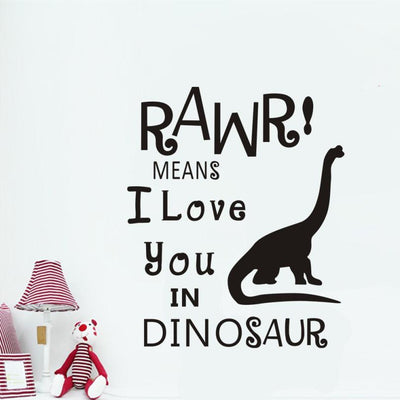 I Love You in Dinosaur Wall Sticker