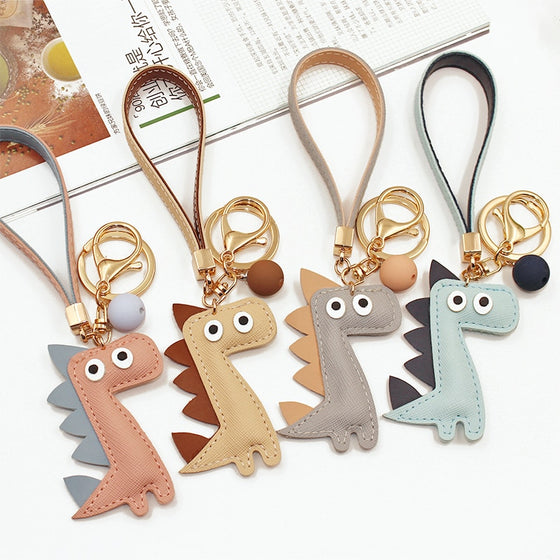 Cute Cartoon Dinosaur Keychain