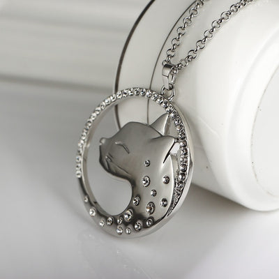 Rhinestone Leopard Necklace