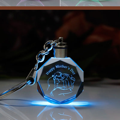 Colorful LED Light Keychain Mother Gift