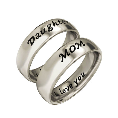 Mom and Daughter Ring Mother Day Gift