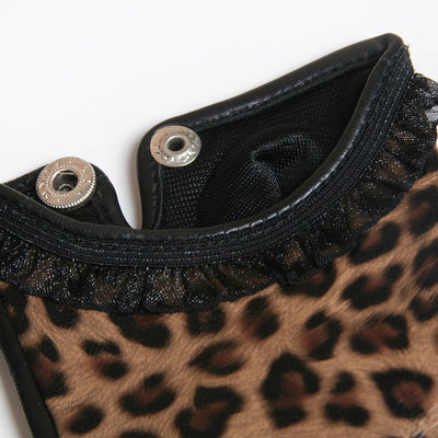 Leopard Thin Leather Sheepskin Gloves