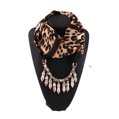 Bohemian Leopard Printed Necklace Scarf