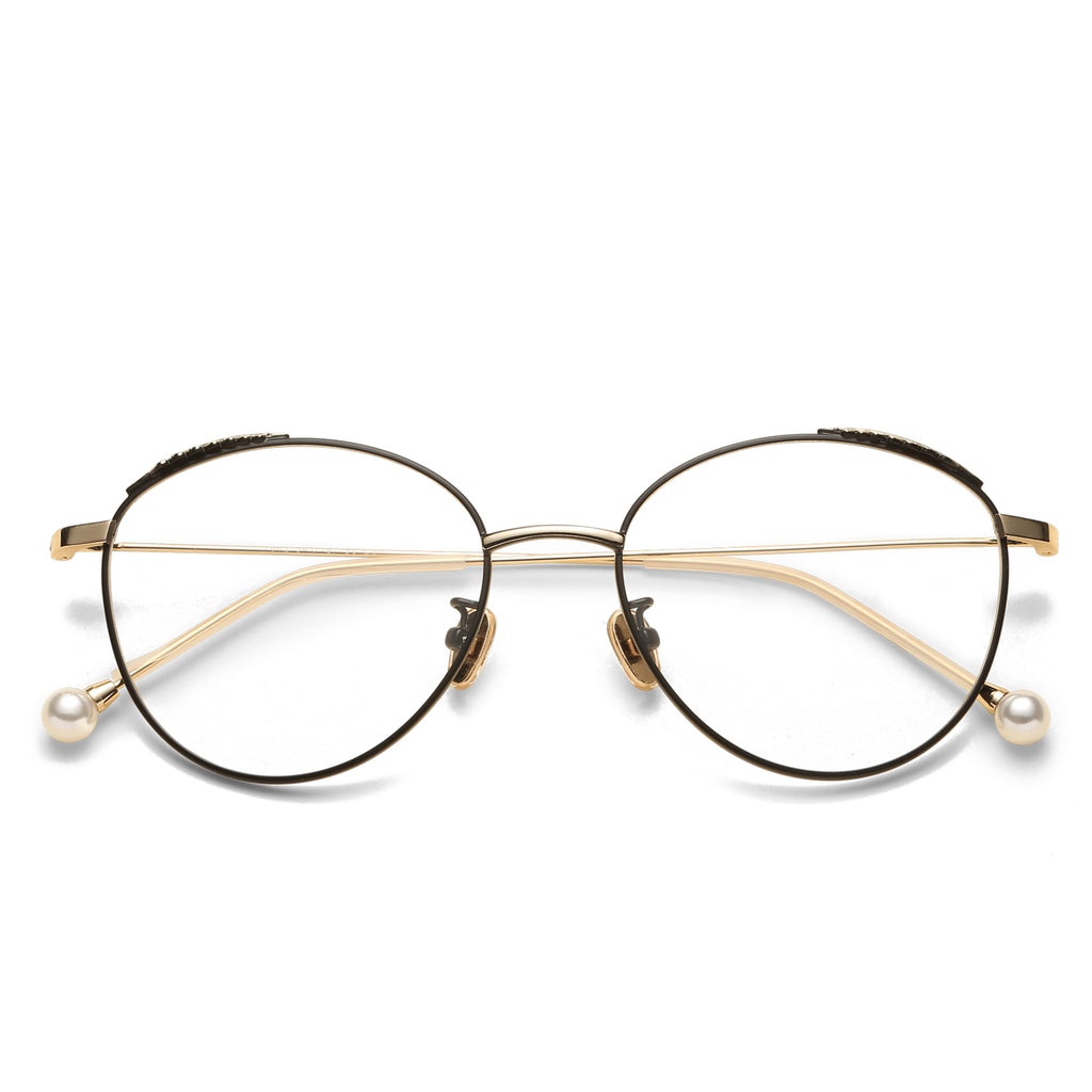 Bianca Oval blue light blocking glasses - MOONSPECS