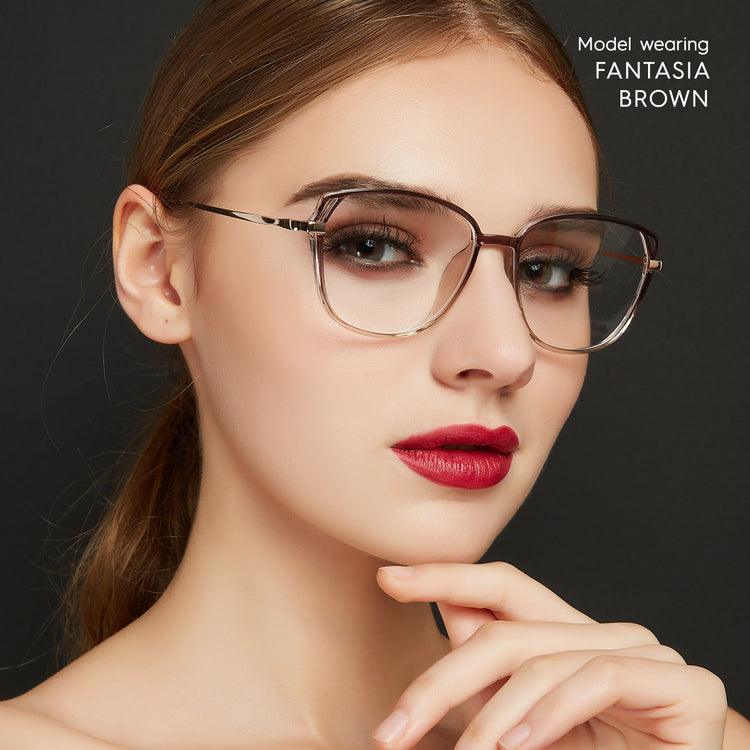 Fantasia Cat Eye Prescription Blue Light Filter Glasses