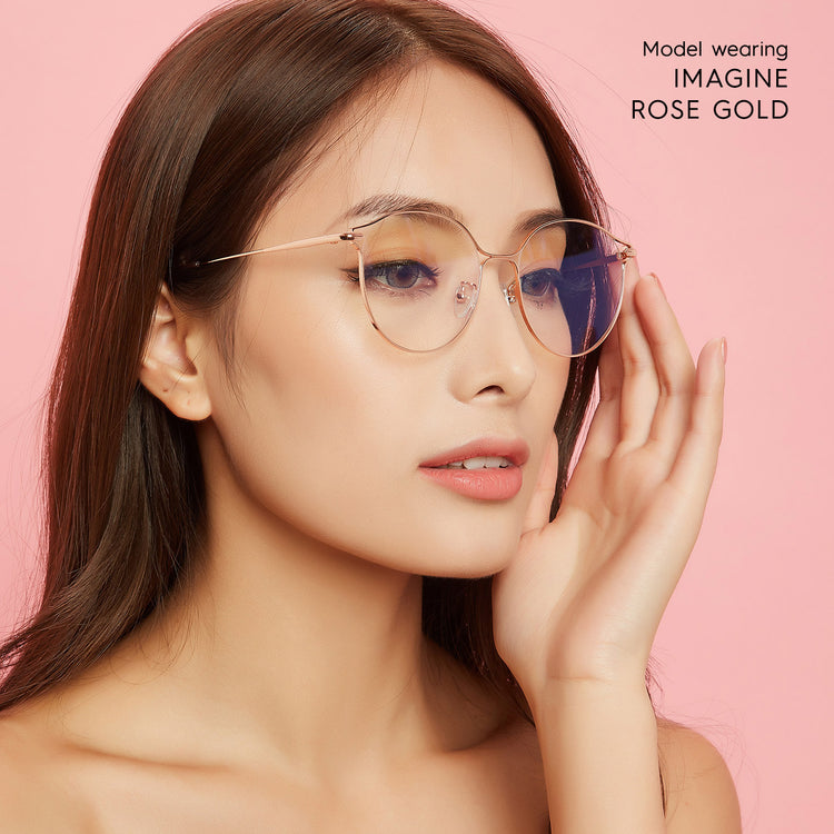 Imagine Oversized Blue Light Filter Glasses - Glasses for Computer Use