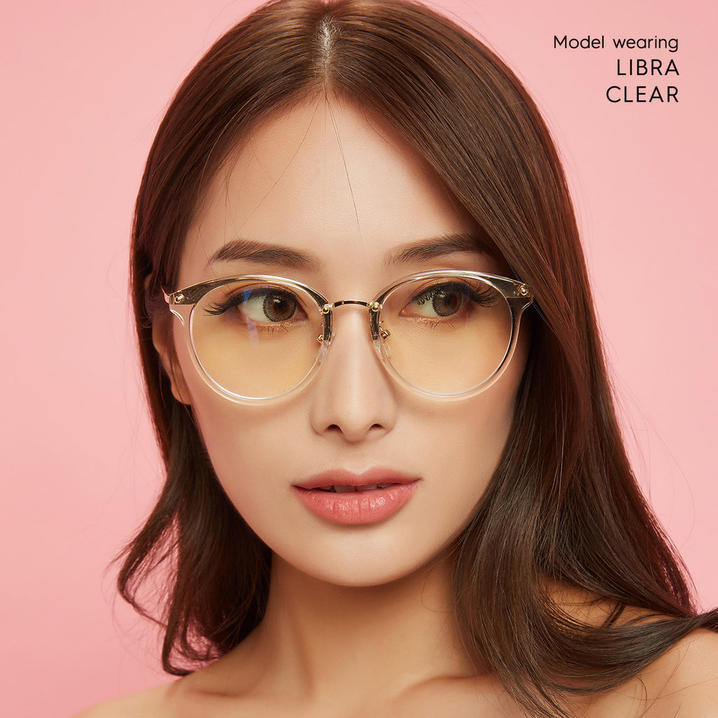 Libra Oval blue light blocking glasses - MOONSPECS