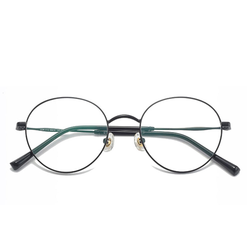 Luna 2 Round - Narrow blue light blocking glasses - MOONSPECS