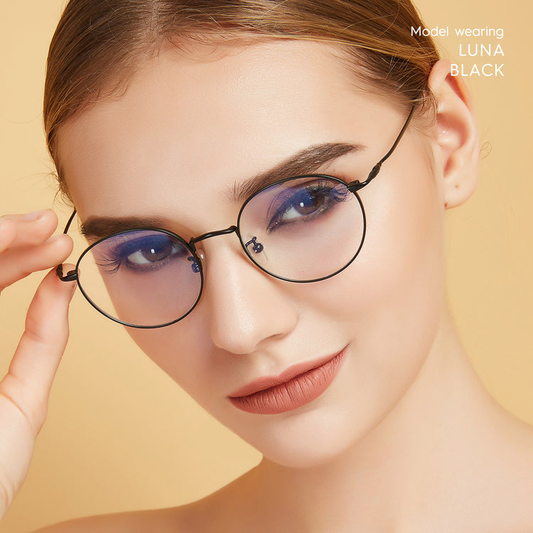 Buy Luna 4 Round Blue Light Filter Glasses - Eyewear | MOONSPECS