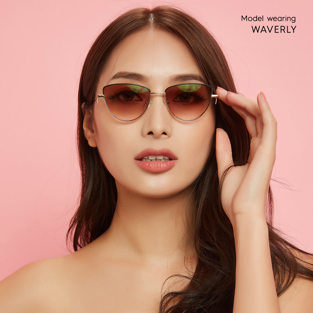 Waverly Cat Eye blue light blocking glasses - MOONSPECS