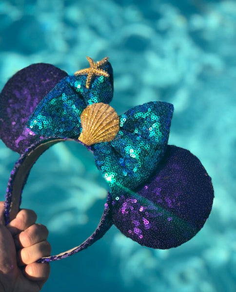 Ariel inspired mouse ears