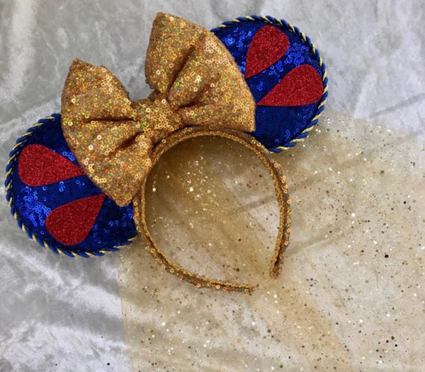 Snow White inspired ears with veil