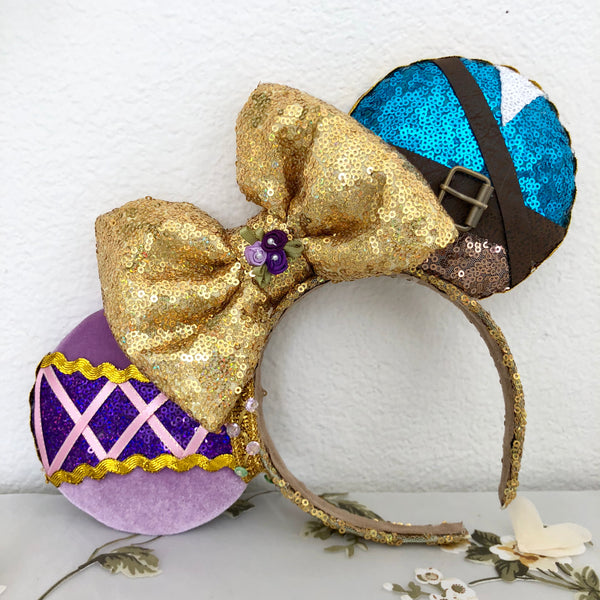 Rapunzel and Flynn inspired mouse ears