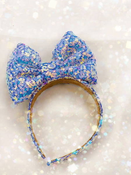 New Holo Lavander Bow headband