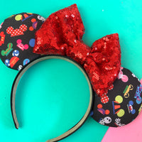 Mickey hat fabric ears