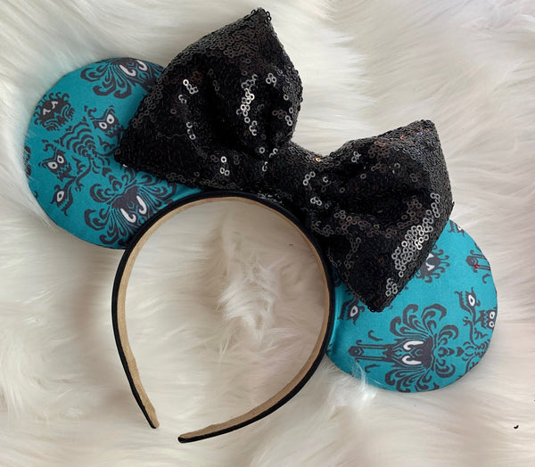 Haunted Mansion blue fabric ears