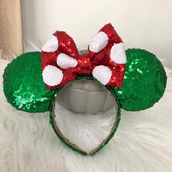 Christmas Green Minnie