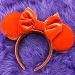 Orange Velvet Solid Ears