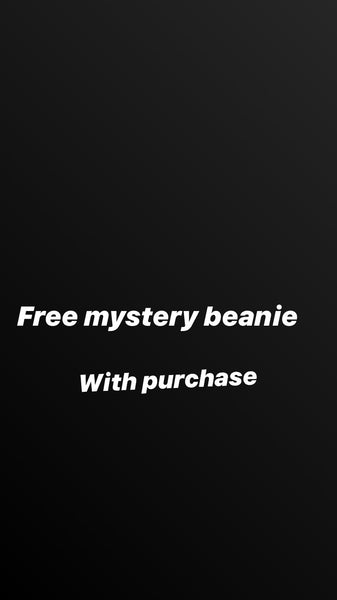 Free mystery beanie with purchase