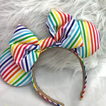 Rainbow fabric solid ears