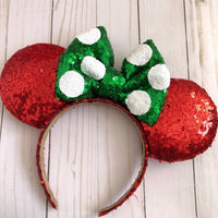 Christmas Minnie Ears