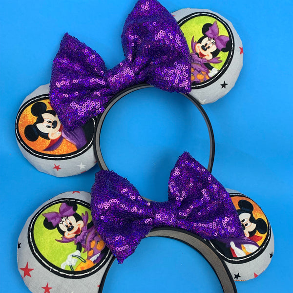 Mickey and Minnie halloween ears