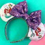 Ariel and flounder fabric ears