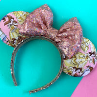 Belle pink fabric ears