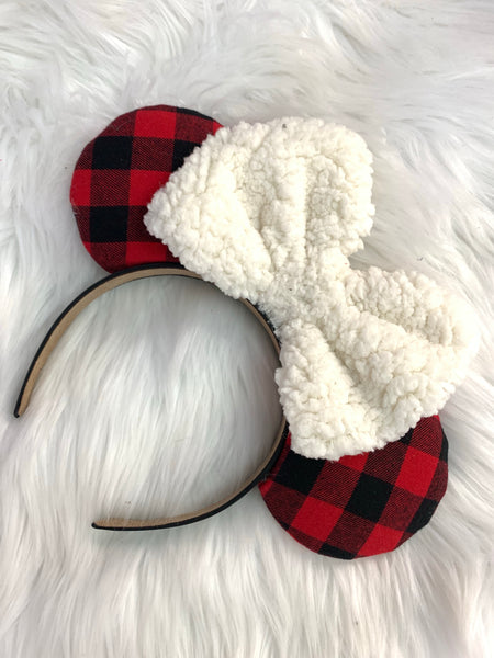 Flannel fur bow Minnie ears