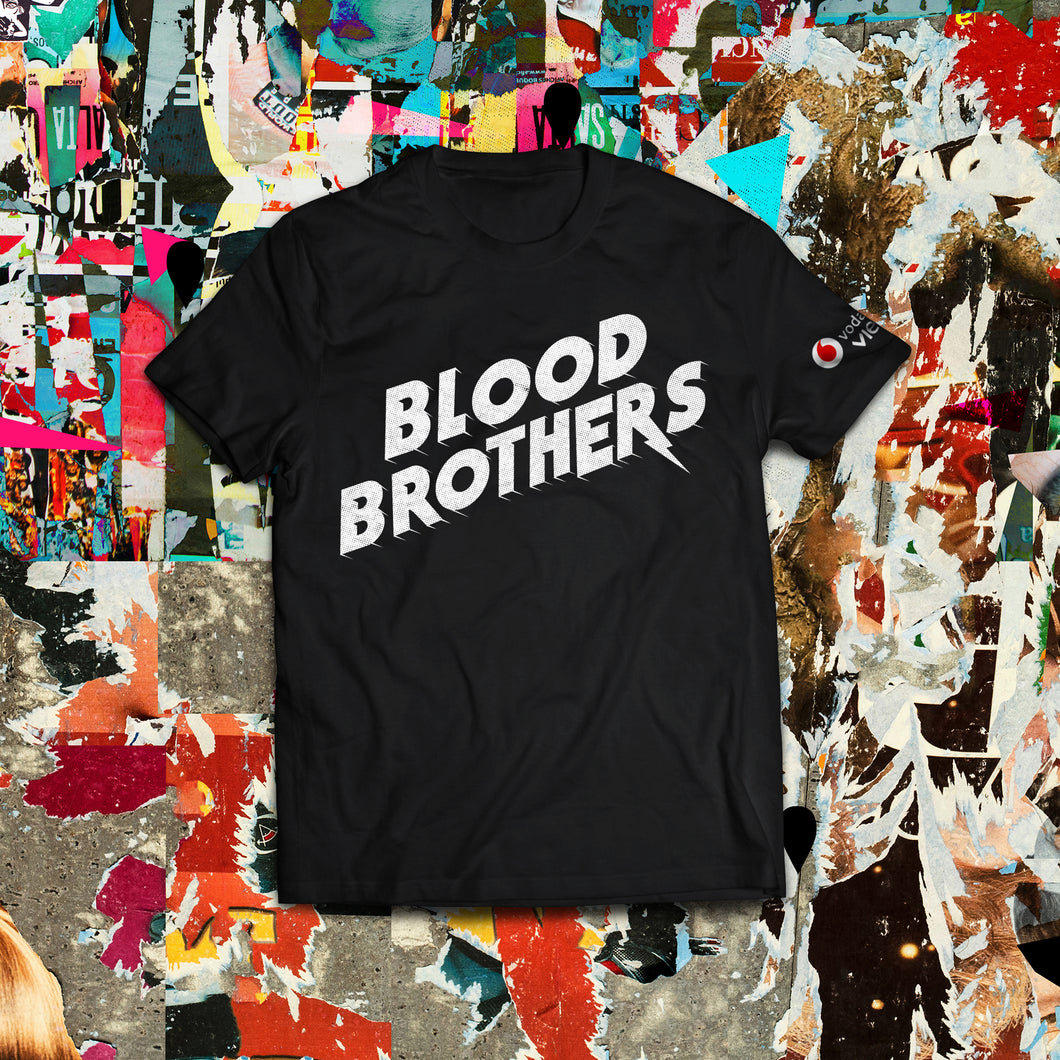 Short Sleeve Blood Brothers Logo Design T-Shirts