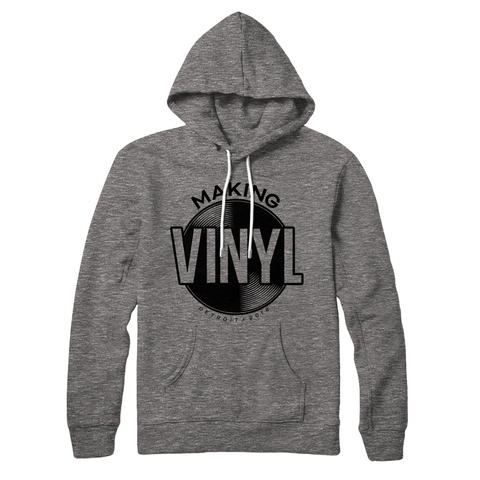 Making Vinyl Detroit 2018 Pullover Hoodie (Gunmetal Heather)