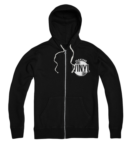 Making Vinyl Detroit 2018 Full Zip Hoodie (Black)