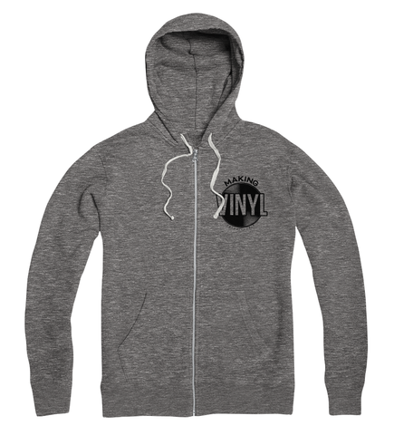 Making Vinyl Detroit 2018 Full Zip Hoodie (Gunmetal Heather)
